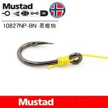 Mustad 10827 Hooks Carp  Pesca Hooks Barbed Fishing Hook Carbon Steel Barb Sharpen Circle Ring Fishhooks Jig Head Catfish Anzol