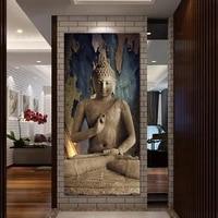 HD imprimer marron Religion bouddha peinture a lhuile sur toile art imprimer maison deco mur art photo salon decor peinture PT0273