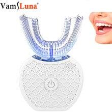 Draadloze Automatische 3D 360 Graden U Scherpe Lui Elektrische Sonische Tandenborstel Nano Blauw Licht Tanden Whitening