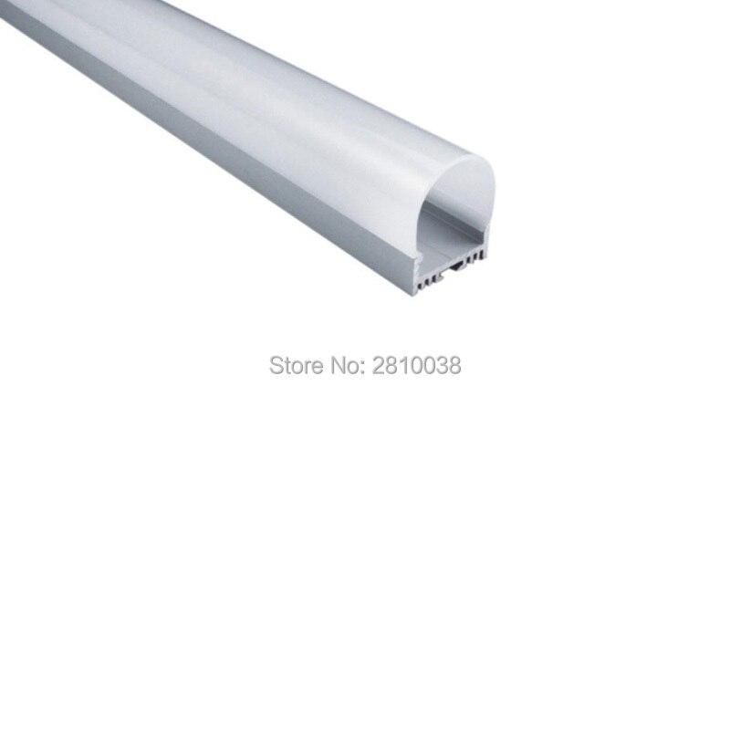 100 X 2M Sets/Lot Surface mounting aluminium profile led strip U style aluminum led profile half round cover for wall lights