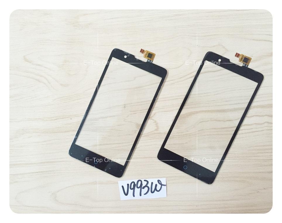 Pantalla táctil negra de seguimiento GRATIS ZTE Blade V5 n-v993w Panel táctil Sensor digitalizador de vidrio; 5 unids/lote