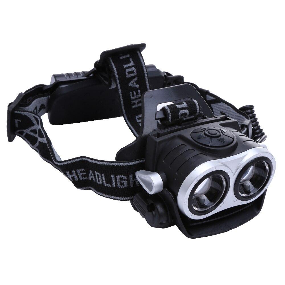 10000лм 2-светодиодный USB Перезаряжаемый головной светильник телескопическая Масштабируемая головная лампа наружный Туризм поиск Рыбалка Фо...