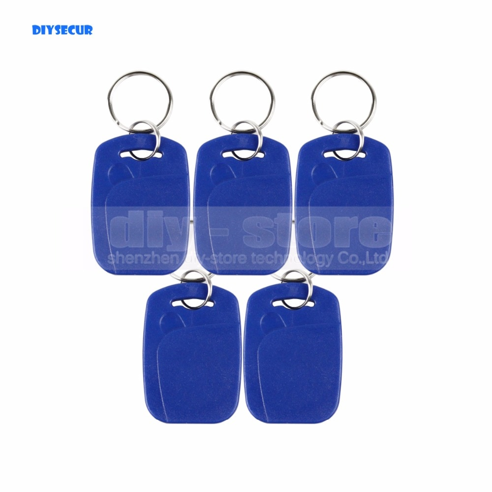DIYSECUR 50pcs/lot Plastic125Khz RFID Card Keyfobs For Access Control System Or Other Smart RFID Reader Door Key