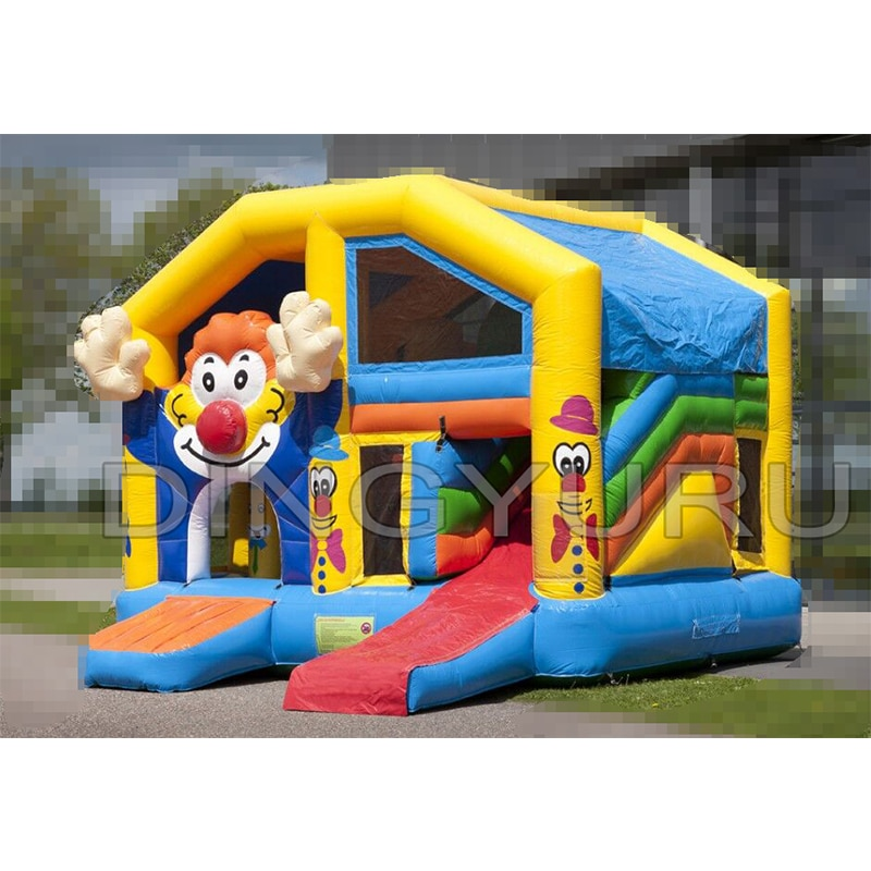 Outdoor PVC  customized clown inflatable bouncer jumping slide for children bouncer giant castle christms decoration inflatable clown
