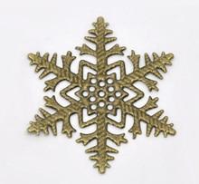 Free shipping-50Pcs Antique Bronze Filigree Snowflake Wraps Connectors Metal Crafts Decoration DIY Findings 45x45mm  J0615