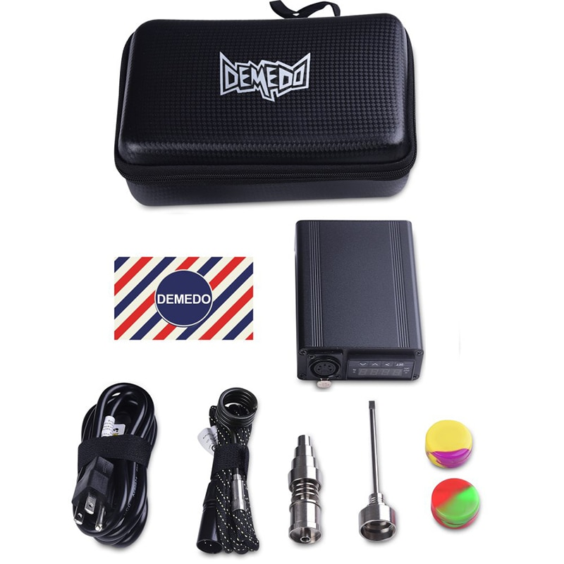 Enail Electric Dab E Quartz Nail With Titanium Dnail Kit Carb Cap 16mm Dabber PID Temperature Control Silicone Pad Portable Bag