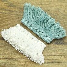 Encaje de algodón encaje blanco tela 100% algodón bordado encaje accesorios de ropa 2,3 cm de ancho A03