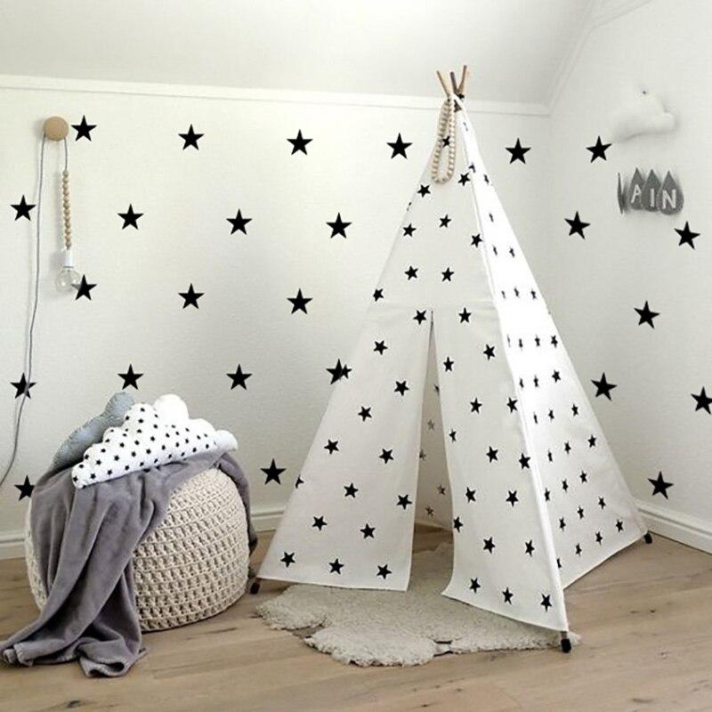 Настенные наклейки со звездами для детской спальни, украшения дома, наклейки на стену для детской комнаты, детские наклейки на стену, наклей...