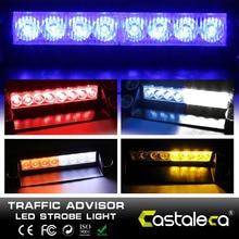 Castaleca-phare stroboscopique de Police 8   Pour voiture, personnalisation du Flash de Police, du tableau de bord, alarme durgence, 3 Flash Flash de type voiture