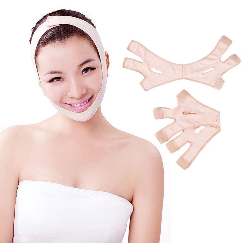Fashion Wrinkle V Face Chin Cheek Lift Up Slimming Slim Mask Ultra-thin Belt Strap Band TK-ing