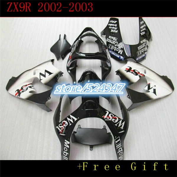 Хит продаж ниндзя ZX9R 0203 ZX9R 20022003 обтекатель комплект kawasaki Ninja ZX9R белый черный спортивный велосипед дешевый мотоцикл at-Hey