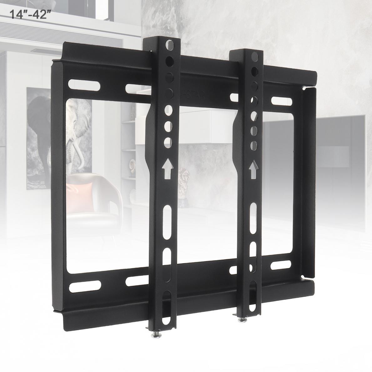 Soporte de montaje en pared para TV Universal, 25KG, 14 - 42 pulgadas, Panel plano, marco de TV para Monitor LCD LED, Pan plano