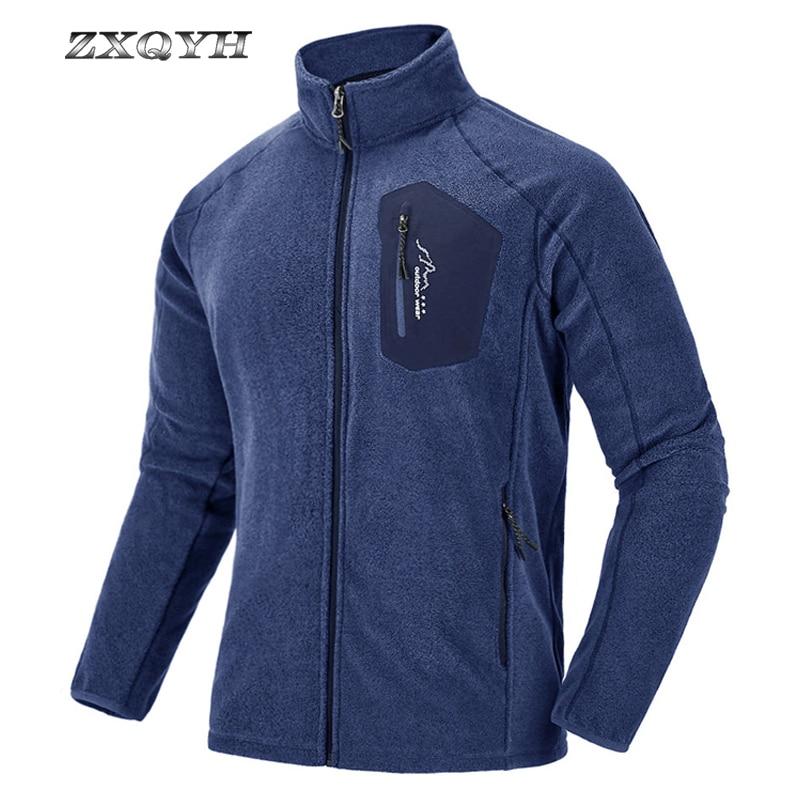 ZXQYH deportes al aire libre chaqueta de hombre de lana abrigo térmico ropa de senderismo Camping Chaquetas Chaqueta de esquí interior transpirable a prueba de viento