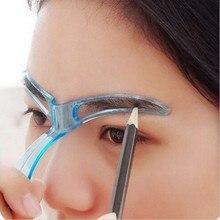 Pochoirs à sourcils de maquillage réutilisables façonnage toilettage sourcils maquillage modèle Design sourcils outil de coiffage rose