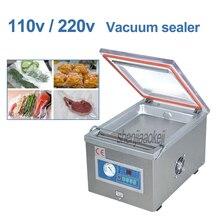 Sac en aluminium commercial de scelleur de nourriture de vide rétrécissant la machine de cachetage DZ-260 machine à emballer à la maison de viande/fruit/légume 110/220 V