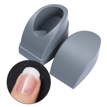 1 ud. Contenedor de plástico francés para uñas, molde para puntas de uñas, guías para uñas, herramienta de arte