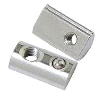 10050pcs t nut 20 series m3 m4 m5 m6 spring nut for aluminum extrusion profile 2020 half round elasticity 20 spring ball nut