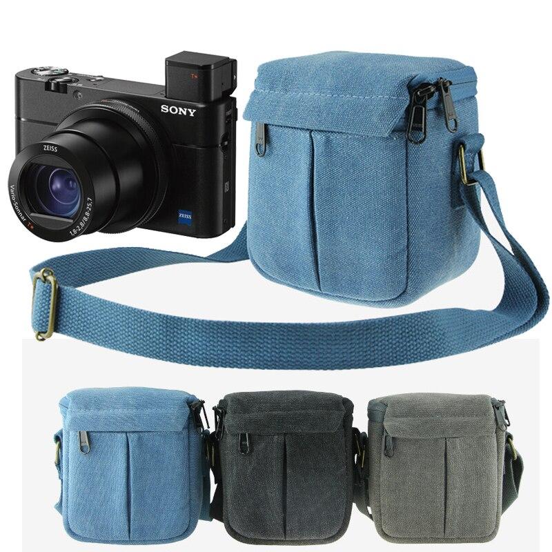 Caja de bolsa de cámara para Canon Powershot G1X Mark II G1X2 G16 G15 G12 G11 G10 G7X SX730 SX700 SX170 para Fujifilm XA5 X10 XE2 X-A2 XA3