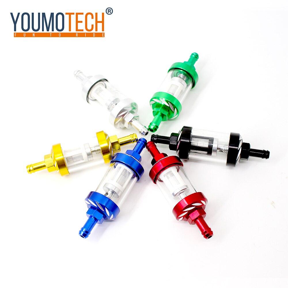 Filtro Universal de combustible de motocicleta en línea para yamaha yb 125sp ybr 125g 125z 150 250 ttr 250 honda cbr1000rr cb400 ktm