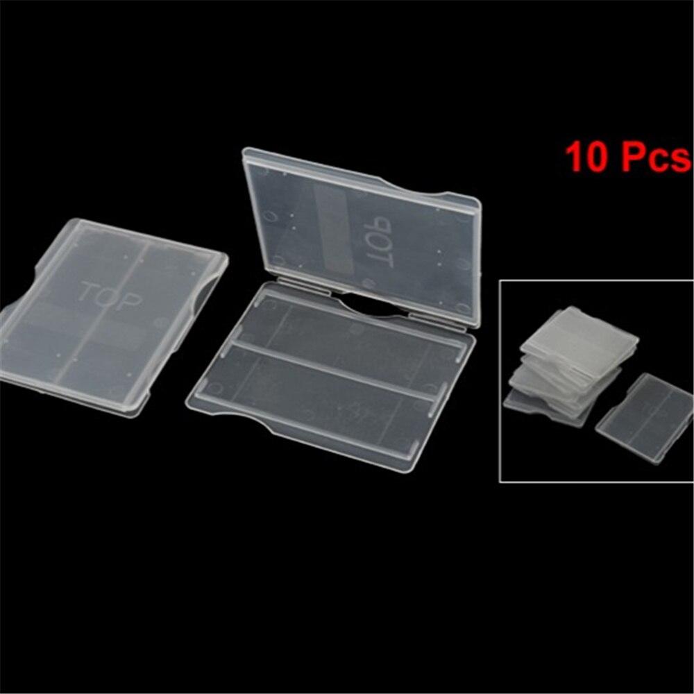 10 шт микроскоп стеклянный ящик для слайдов прозрачный белый для 2 слайдов