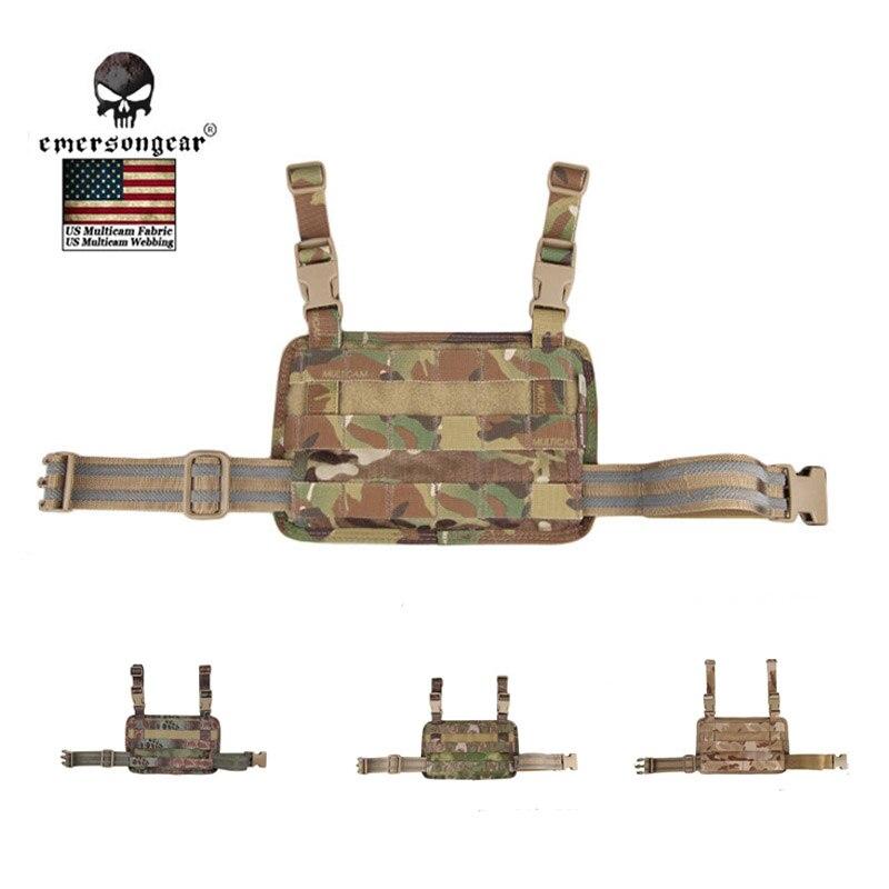 EMERSON Modular Rife Perna Saco e Drop Leg Platform Revista Painel Painel Conivente Set Nylon Molle equipamentos de combate militar