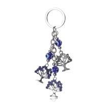 1 pc porte bonheur mauvais œil charmes porte-clés vie arbre pendentif gland porte-clés cristal voiture porte-clés femmes mode bijoux cadeaux