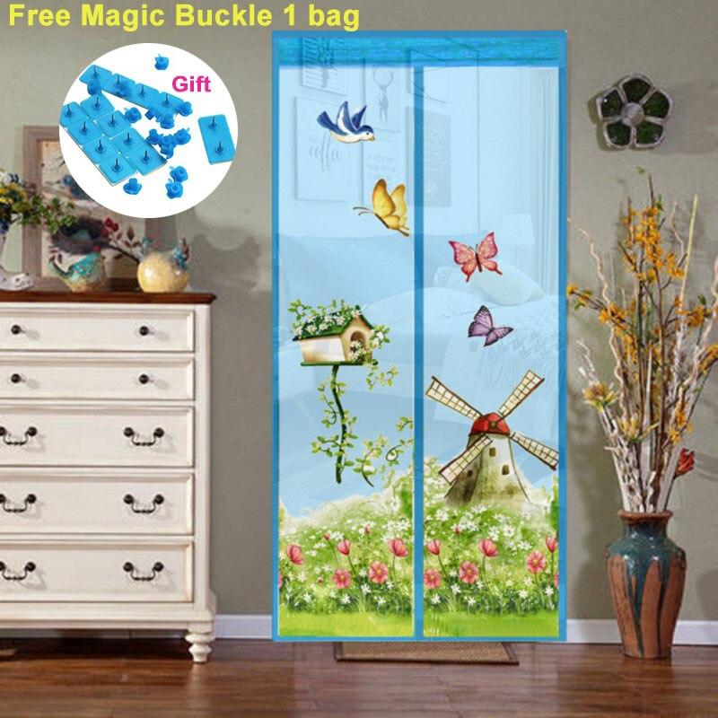 4 вида цветов Магнитные занавески москитная сетка на дверь окно сетка с магнитами насекомых экран
