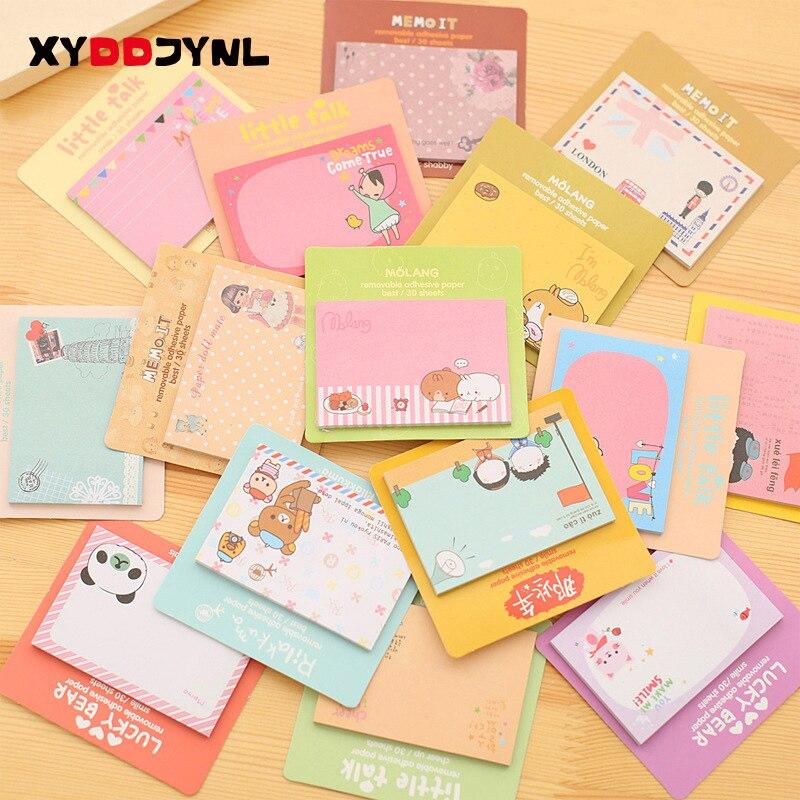 Uds lindo Memo Pad coreano papelería Notas recordatorias Adhesivas cuaderno planificador pegatinas...