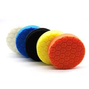 Image 4 - 5 x губки для полировки, автомобильные краски, шлифовальные колодки, инструменты для очистки щеток, Для Полировки Автомобиля 75 100 125 150 180 мм с клейкой прокладкой