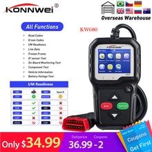 Konnwei KW680 lecteur de code scanner multi-langue obd2 pleine fonction kw 680 en russe voiture outil de diagnostic pk AD310 OM123