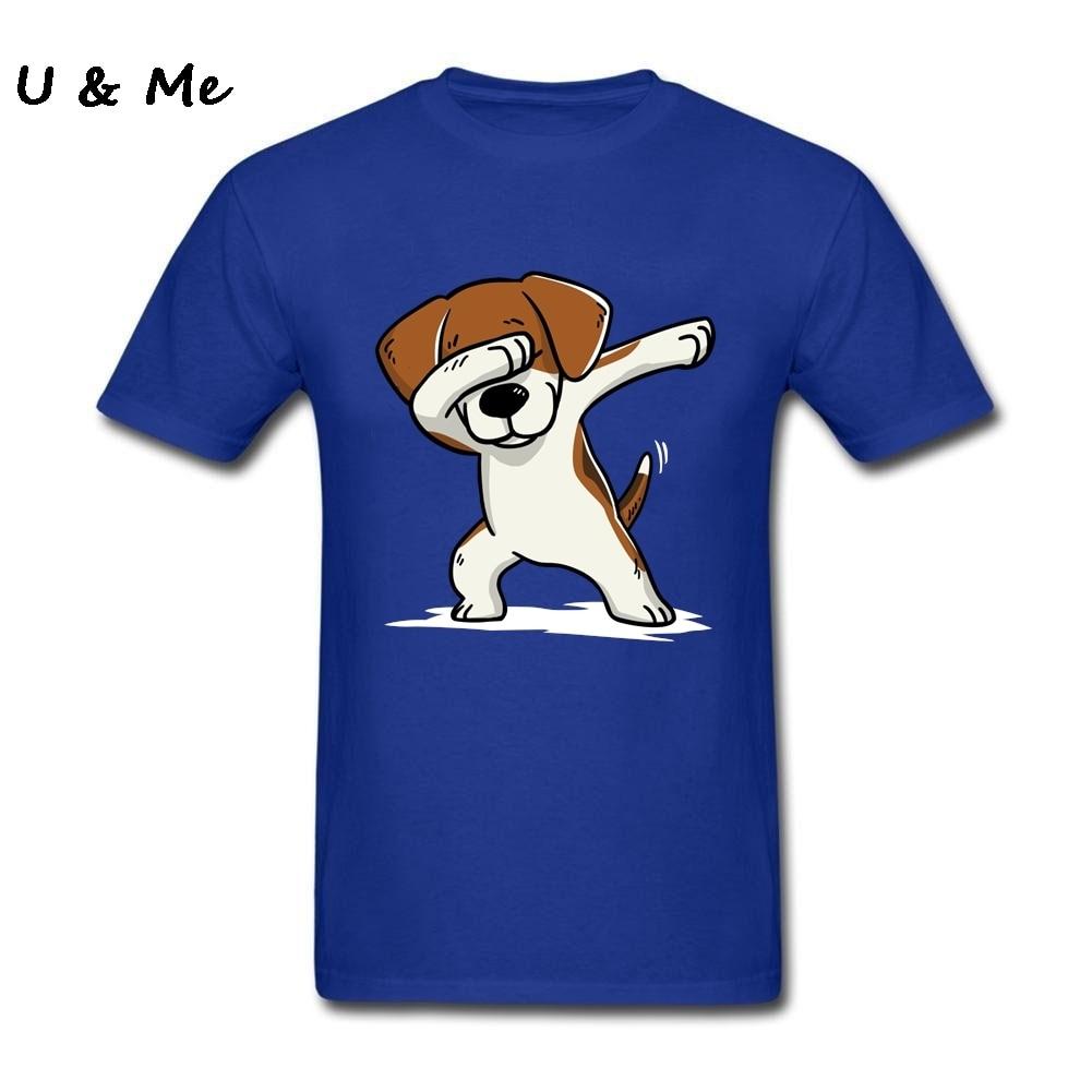 Divertido perro hombres camiseta Dabbing Beagle Harajuku griego impresora camiseta adultos Tops talla grande