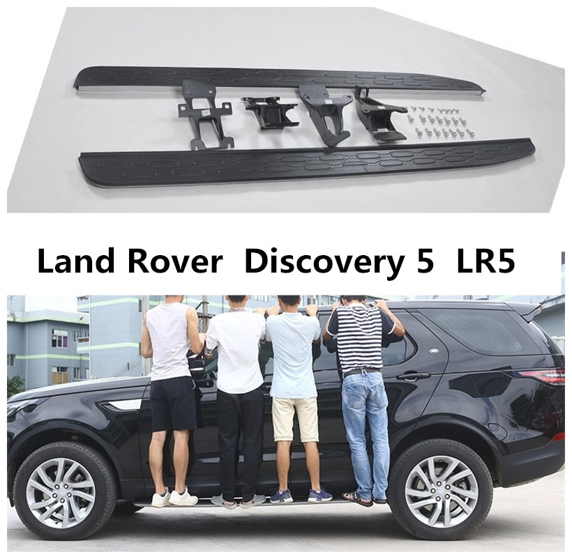 Para Land Rover Discovery 5 LR5 2017, 2018, 2019, 2020 corriendo de lado pedales de barra de paso de coche de alta calidad Nerf bares Accesorios