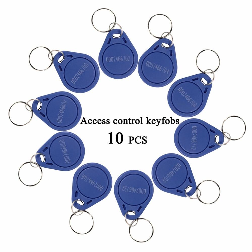 10 pçs rfid keyfobs 125 khz proximidade id token tag chave keyfobs para porta de controle acesso