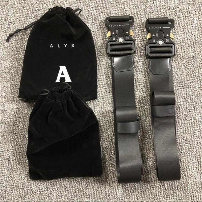 Ремень безопасности на американскую горку ALYX 1017 ALYX 9SM унисекс, металлическая пряжка, Холщовый ремень в стиле хип-хоп