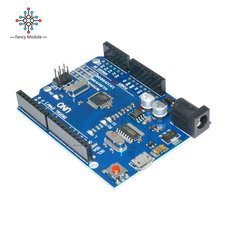 ATMEGA328P-16AU Micro USB UNO R3 MEGA328P CH340 CH340G Junta ATMEGA328P-AU módulo controlador reemplazar ATmega16U2 UNO
