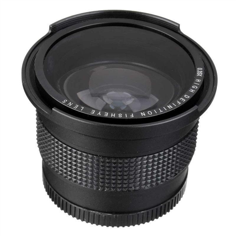 Lightdow 52MM 0.35x ojo de pez Super gran angular + lente Macro para Nikon D7100 D5200 D5100 D3100 D90 D60 con lente de 18-55mm