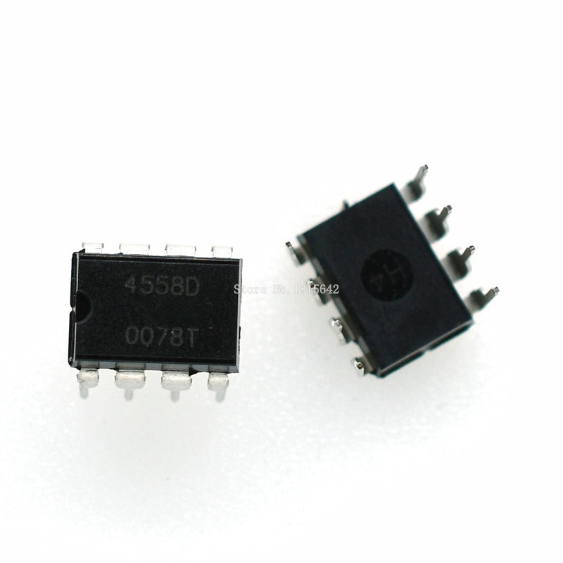 10 Uds nuevo JRC4558 4558 4558D JRC4558D DIP-8 integrar IC Chip