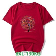 plus size 5XL 7XL 8XL women t-shirts short sleeve summer cotton tees Creative print letter tops Comfortable soft 120KG navy blue