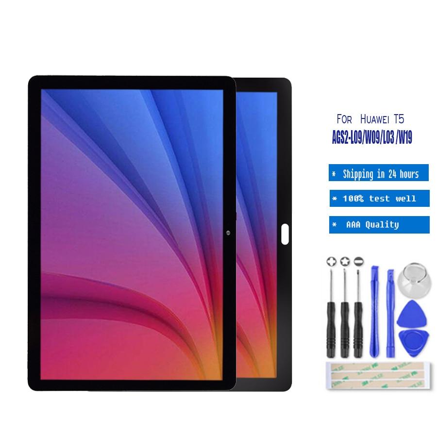 "10,1 ""для Huawei MediaPad T5 10 AGS2-L09 AGS2-W09 AGS2-L03 ЖК-дисплей с кодирующий преобразователь сенсорного экрана в сборе стеклянная пленка"