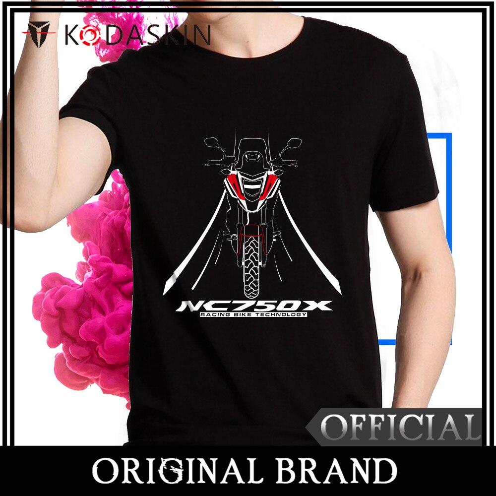 KODASKIN 2018 Male Loose Round Neck half-sleeved Wind Rrinting Fashion Summer Free Shipping NC750X MOTOROLA T-shirt