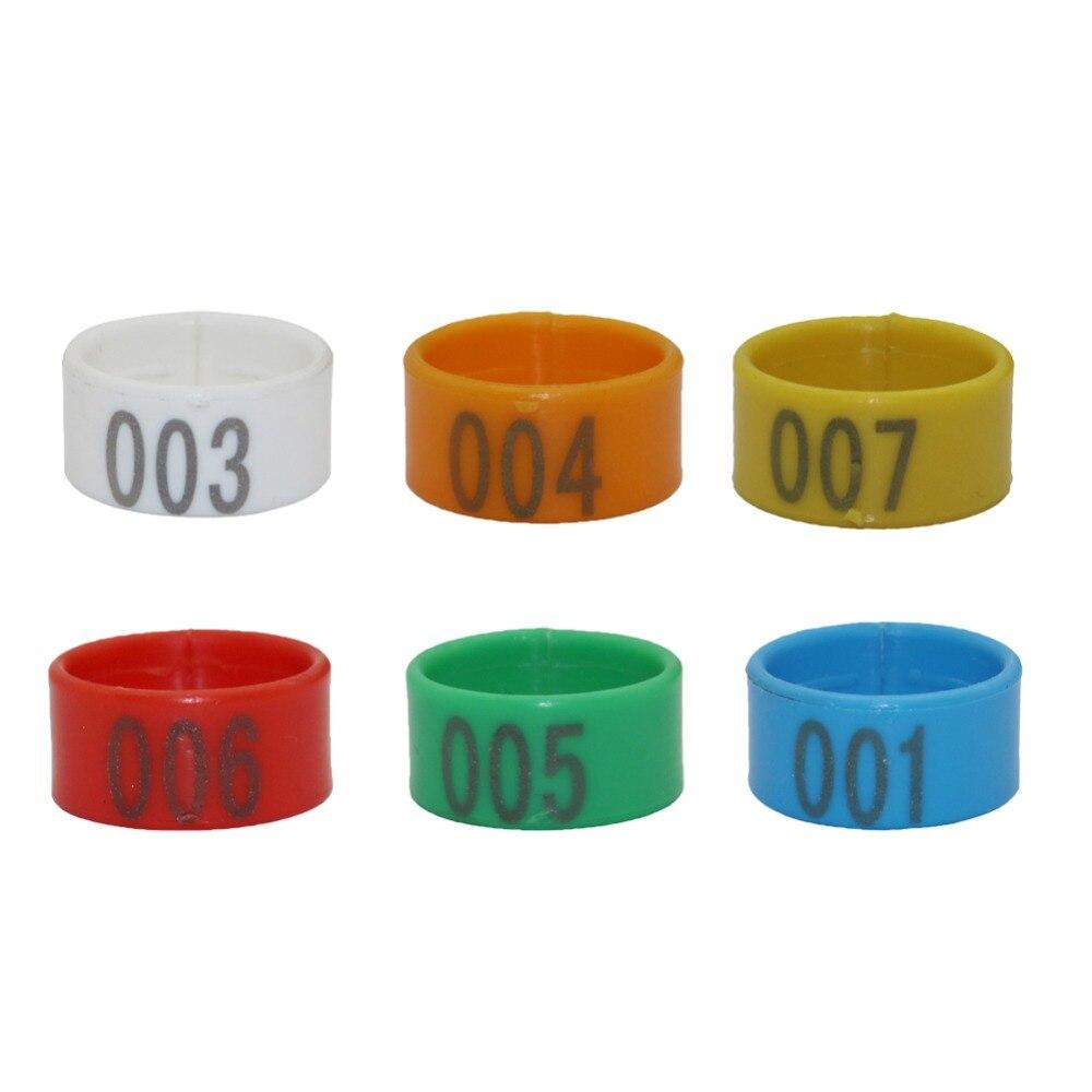 Пластик 1,6 см/1,8 см/2,0 см Цифровой куриная нога кольцо птицы ноги пряжки птицефабрика идентификации с кольцом для пальца 100 шт