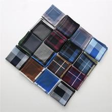 Mouchoir de poche à carreaux pour hommes   Grand mouchoir, solide, poche carrée, costume homme en Paisley décontracté, 6 pièces/paquet, 43x43cm, haute qualité