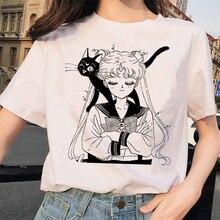 Marin lune 90s drôle T-shirt Harajuku vêtements T-shirt esthétique chat Anime femmes mignon femme T-shirt Kawaii t-shirts mode Ullzang