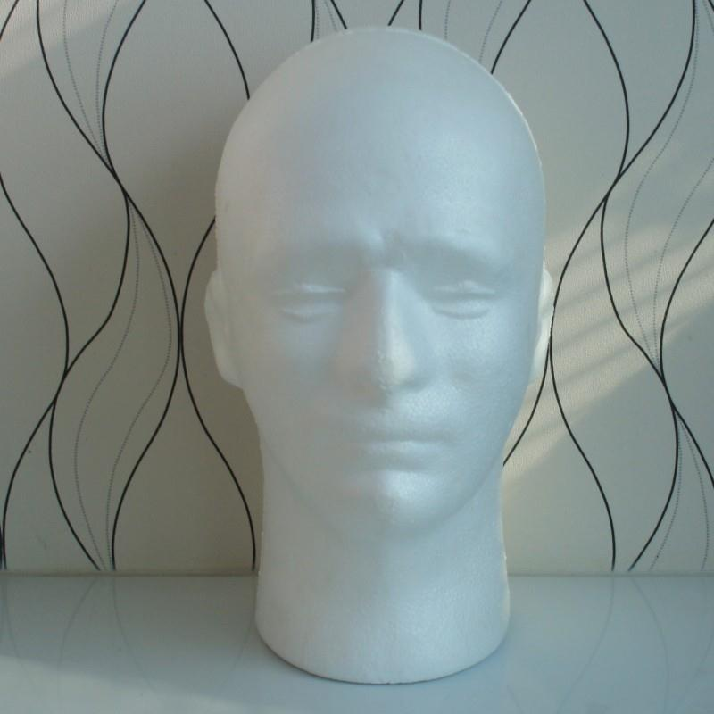 Male Mannequin Salon Doll Foam Manikin Head Model Glasses Cap Hat Wig Display Stand Drop shipping