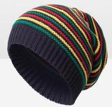 Pom Pom Winter Hip Hop Hoed Bob Marley Jamaicaanse Rasta Reggae Multi-color Gestreepte Beanie Hoeden Voor Mens Vrouwen mutsen Ski Muts