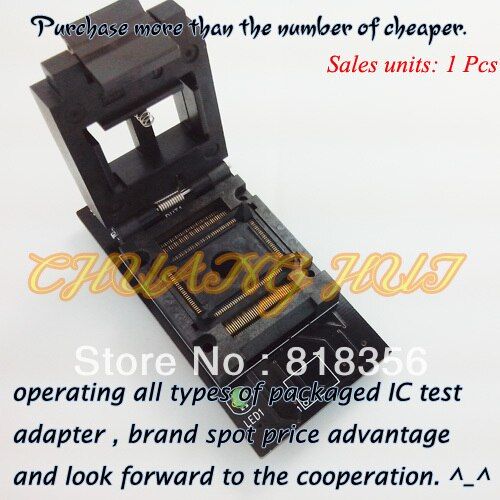 SU-PC8375S-PQFP128-E Programmer Adapter FPQ-128-0.5-03 PQFP128/QFP128 Adapter IC Test Socket/IC Socket (LP Programmer Adapter)