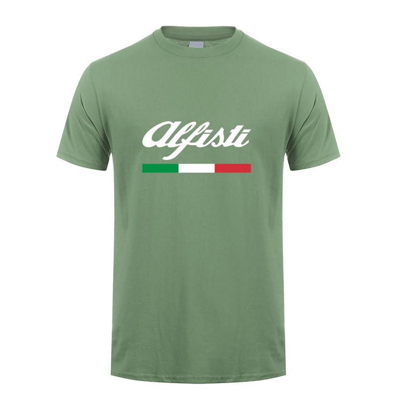 Мужская футболка Alfa Romeo, модная футболка с коротким рукавом, Мужская футболка, LH-069