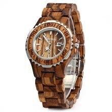 BEWELL Woman Watches Brand Luxury Wooden Quartz Watch Waterproof Luminous Hands Calendar Women Wristwatch relogio feminino