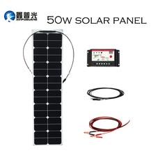XINPUGUANG 50w 18V ETFE efficace flexible panneau solaire cellule solaire système de production dénergie pour voiture RV yacht 12v chargeur de batterie