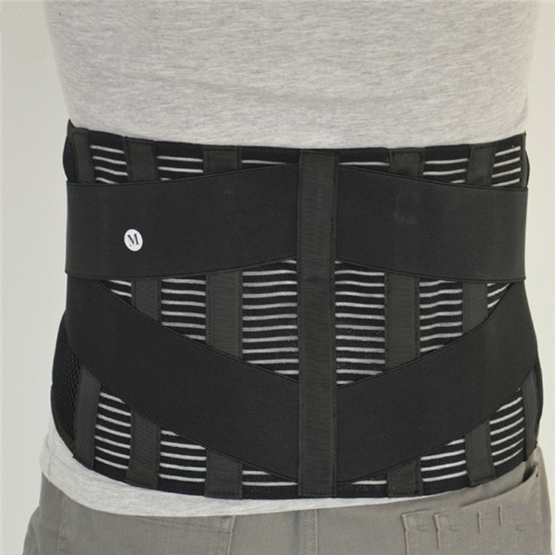 Big Size XXXL Neoprene Waist Support Breathable Elastic Back Waist Support Belt Sport Waist Protector Black Lumber Brace Y015